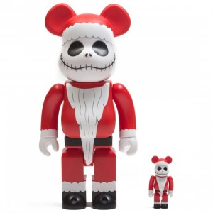 Medicom The Nightmare Before Christmas Santa Jack 100% 400% Bearbrick Figure Set (red)