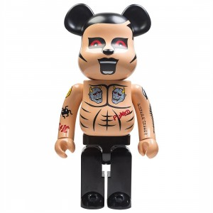 Medicom Punk Drunkers Aitsu Tatoo Ver 1000% Bearbrick Figure (tan)