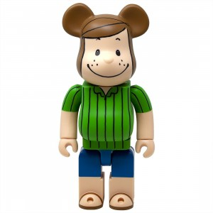 Medicom Peanuts Peppermint Patty 400% Bearbrick Figure (green)