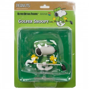 Medicom UDF Peanuts Series 8 Golfer Snoopy Ultra Detail Figure (green)