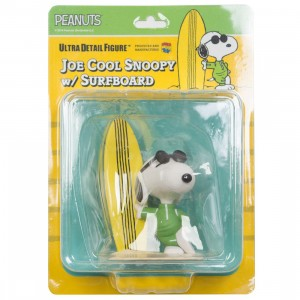 Medicom UDF Peanuts Series 8 Joe Cool Snoopy With Surfboard Ultra Detail Figure (white)