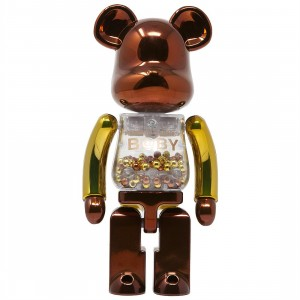 Medicom Super Alloyed My First Bearbrick Baby Steampunk 200% Bearbrick Figure (bronze)