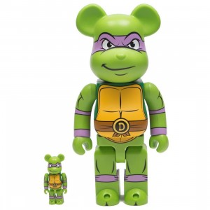 Medicom TMNT Donatello 100% 400% Bearbrick Figure Set (green)