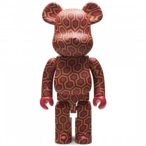 Medicom The Shining Overlook Hotel Carpet Pattern 1000% Bearbrick Figure (red)