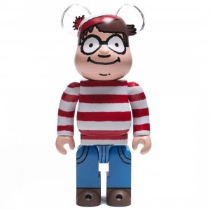 Medicom Where's Wally? Wally 400% Bearbrick Figure (red)