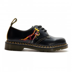 Dr. Martens Men 1461 Basquiat II Boots (black / dms yellow pez smooth / smooth)