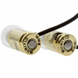Munitio SITi G 001 Nine Millimeter Bullet Earphones (gold)