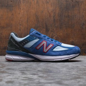 New Balance Men 990v5 M990NC5 - Made In USA (blue / andromeda blue / team red / black)