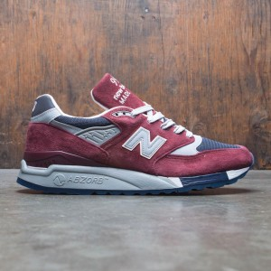 New Balance x J Crew Men 998 Port M998JB1 - Made In USA (burgundy / blue / grey / white)