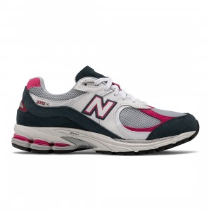 New Balance Men 2002R ML2002RH (white / petrol / exuberant pink)