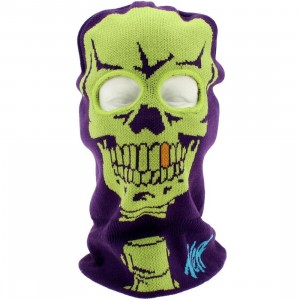 Neff X-Ray Ski Mask Beanie (purple)