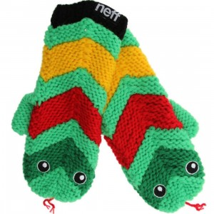 Neff Snake Anamit Mittens (green / red / yellow)