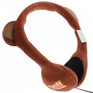 Neff Bear Animal Headphone (brown)