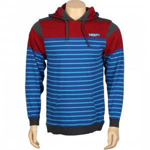 Neff Linus Pullover Hoody (blue / red)