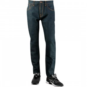 Nudie Jeans Co Steady Eddie Organic Dry Greencast Jeans (blue)