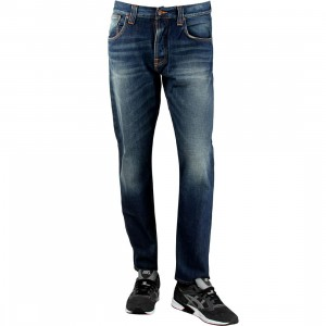 Nudie Jeans Co Steady Eddie Organic Whistle Blue Jeans (blue)