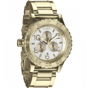 Nixon 42-20 Chrono Watch (gold / light gold / silver)