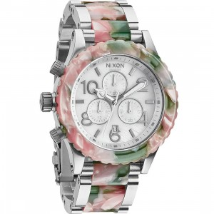 Nixon 42-20 Chrono Watch (pink / mint julep)