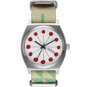 Nixon x Yusuke Hanai Time Teller Watch (silver / dots)
