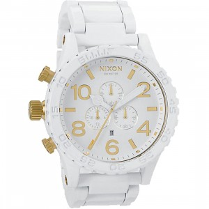 Nixon 51-30 Chrono Watch (white / gold)