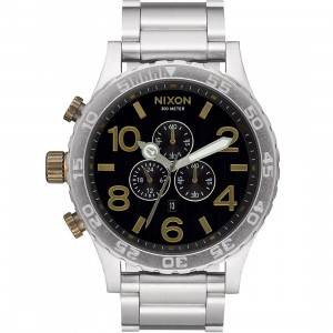 Nixon 51-30 Chrono Watch (black / brass)