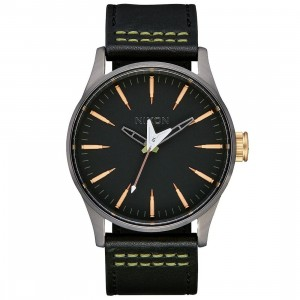 Nixon x Metallica Sentry Leather Watch - Seek And Destroy (black)