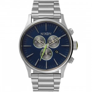 Nixon Sentry Chrono Watch (blue / midnight / volt)