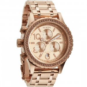 Nixon 38-20 Chrono Watch (gold / all rose gold)