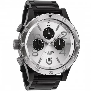 Nixon 48-20 Chrono Watch (black / silver)