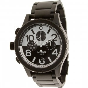 Nixon 48-20 Chrono Watch - Instrument LTD Pack (black / white / black)