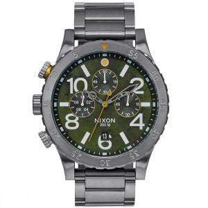 Nixon 48-20 Chrono Watch (green / gunmetal)
