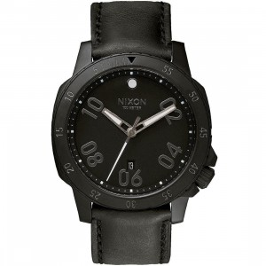 Nixon Ranger Leather Watch (black / all black)