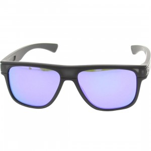 Oakley Breadbox Sunglasses (matte black ink / violet iridum)