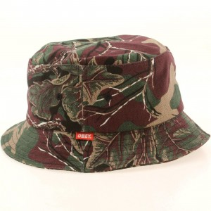 Obey Uplands Bucket Hat (burgundy / camo)