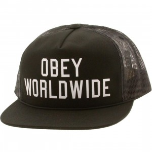 Obey Alumni Trucker Cap (black)