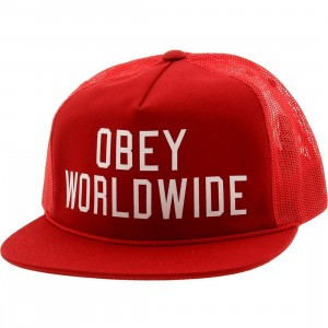 Obey Alumni Trucker Cap (red)
