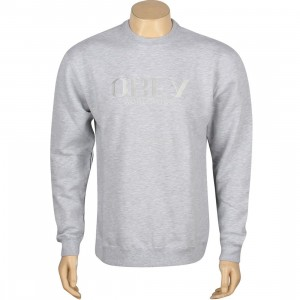 Obey Milan Crewneck (gray / heather gray)