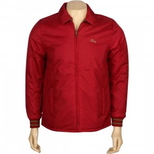 Obey Sideline Jacket (burgundy)