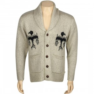 Obey Bird Cardigan (tan / heather oatmeal)
