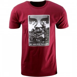 Obey Nightwatch Tee (burgundy)