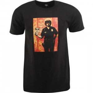 Obey Americas Finest Cop Tee (black)