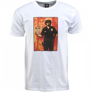Obey Americas Finest Cop Tee (white)