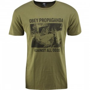 Obey Against All Odds Tee (olive / army)