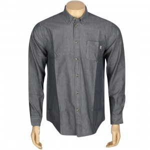 Obey Wise Man Long Sleeve Shirt (blue / indigo)