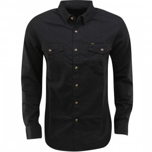 Obey Post Woven Long Sleeve Shirt (black)