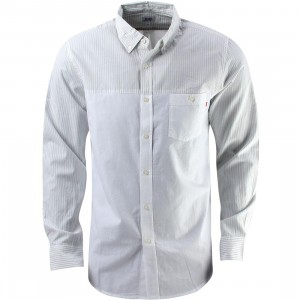 Obey Bond Dissent Woven Shirt (white)