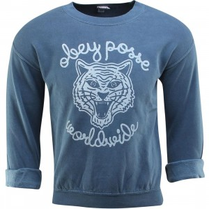 Obey Women Be All End All Crewneck (blue / dusty dark denim)