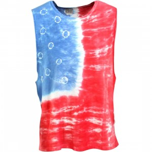 Obey Women Free Fallin Tank Top (blue / white / red / americana)