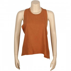 Obey Women Rider Tank Tee (brown / dusty ginger)