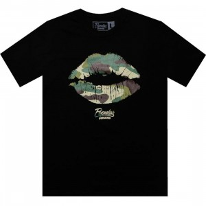 Popular Demand Camo Kiss Tee (black)